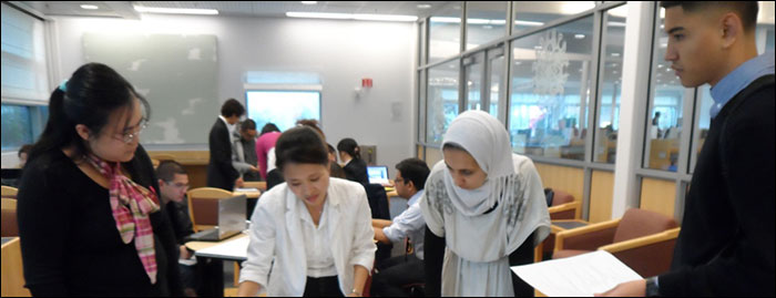 Students in the Collaboration Room