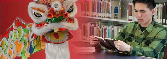 Asian American Collection Dragon and student